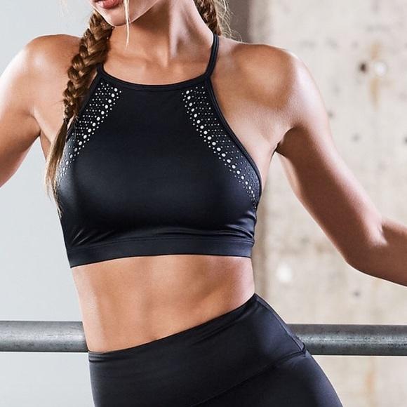 ae6cee7aa6 Victoria s Secret Laser cut highneck sports bra